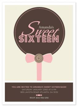 Sweets for my sweet sixteen invite