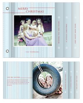 Christmas Snowflakes Minibook Cards