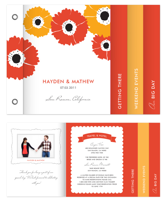 minibook cards - gerber daisy by SimpleTe Design