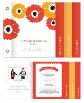 gerber daisy Minibook Cards
