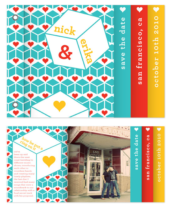 minibook cards - Love Cubed by Foreignspell