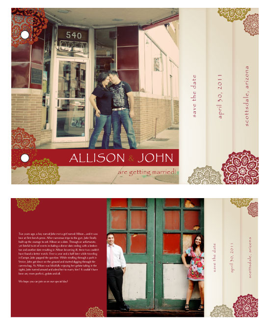 minibook cards - Moroccan Chic by Jill Citron