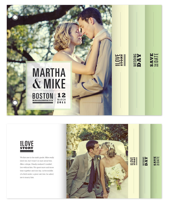 minibook cards - Our Love Story by Katie Wahn