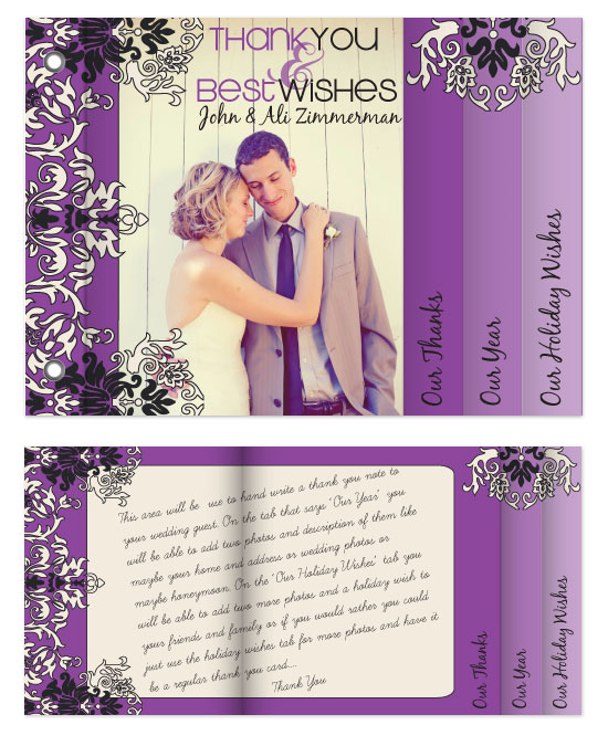minibook cards - Wedding Thank You/ Holiday Card by Sadie Visser Designs