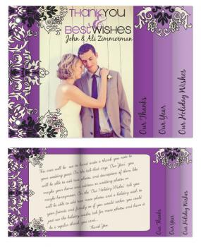 Wedding Thank You/ Holiday Card Minibook Cards