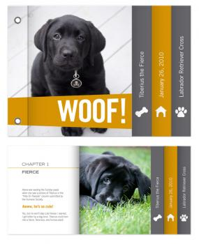 Woof!(Hello!) Minibook Cards