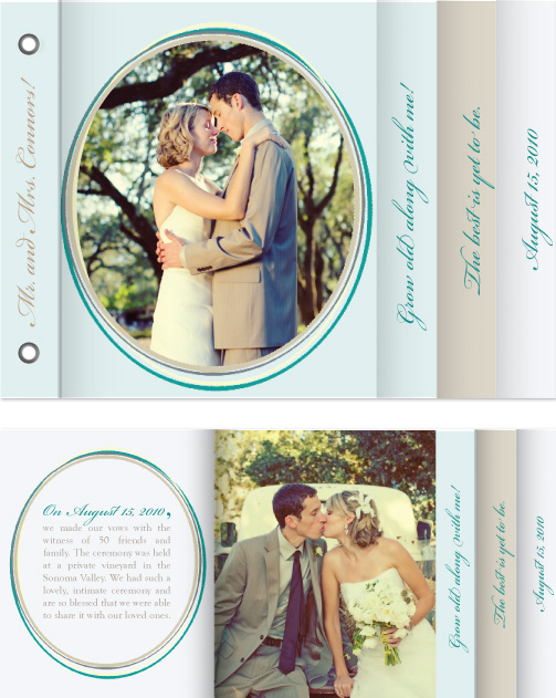 minibook cards - Circles of love by William Reid Stationery