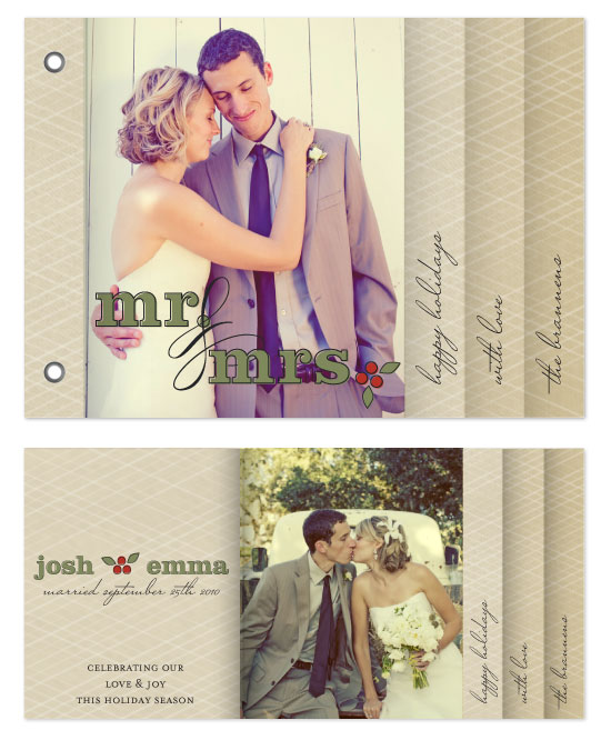 minibook cards - Mr. & Mrs. by Bourne Paper Co.