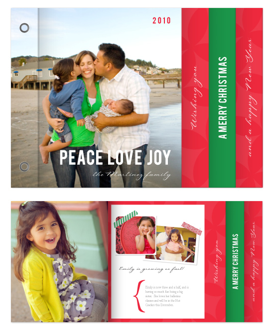 minibook cards - Peace Love Joy_scrapbook by SimpleTe Design