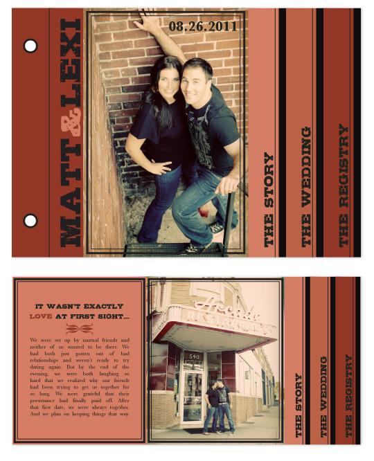 minibook cards - Urban Brick Red by Audrey Clayton