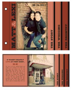 Urban Brick Red Minibook Cards