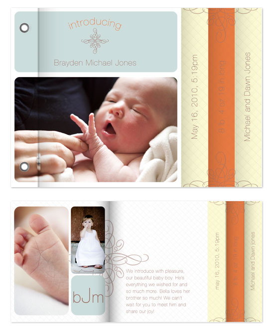 minibook cards - Our Precious Baby Boy by Bethany Anderson