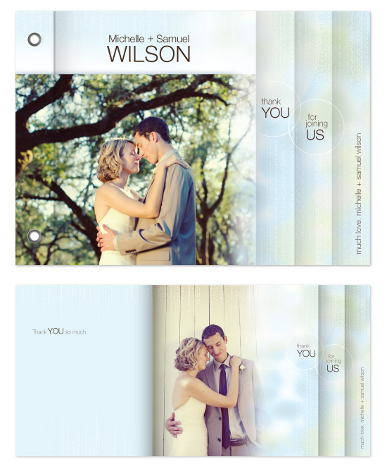 minibook cards - Thank You Wedding Card by Rebecca Wendt