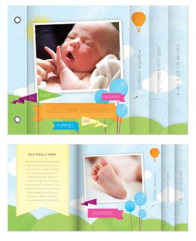 Welcome Baby Minibook Cards