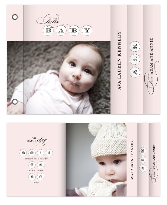 minibook cards - B-A-B-Y by Lauren Chism