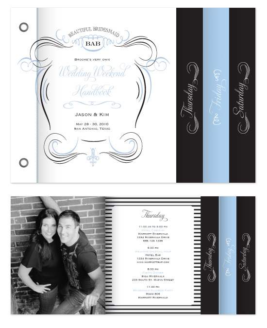 minibook cards - French Apothecary Wedding Itinerary by Fig and Cotton