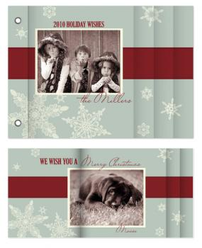 Snowflake Vintage Minibook Cards