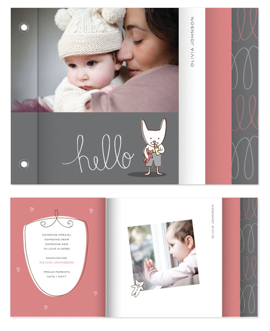 minibook cards - Baby Bunny by Kimberly Schwede
