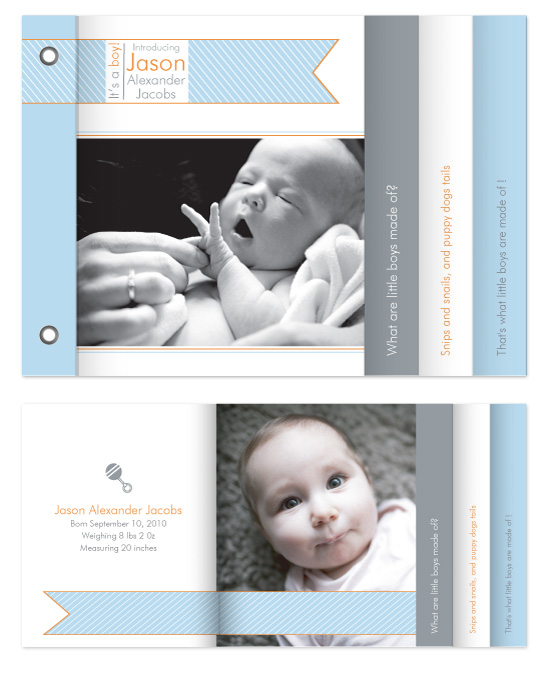 minibook cards - Welcome Little One by Bugaboo Announcements