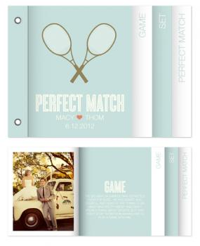 the perfect match Minibook Cards