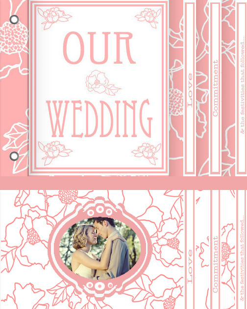 minibook cards - Our Wedding by Tolani Lightfoot