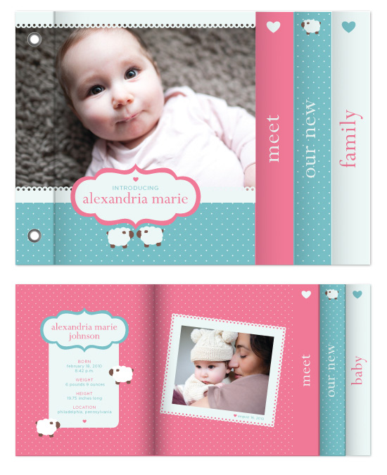minibook cards - sweet baby love by angel b lee