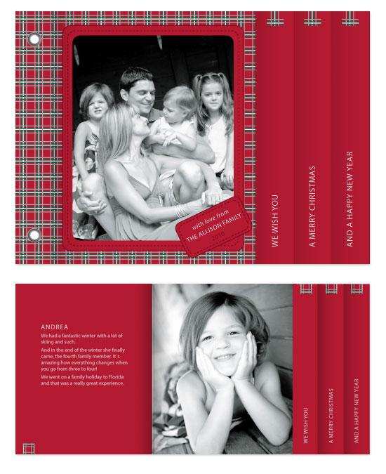 minibook cards - Scottish Christmas by Åsa Ranneby