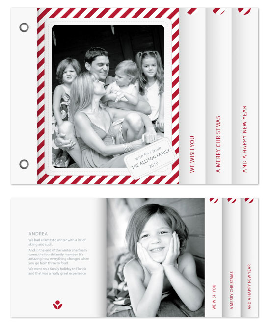minibook cards - Candy Cane Christmas by Åsa Ranneby
