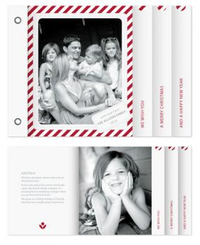 Candy Cane Christmas Minibook Cards