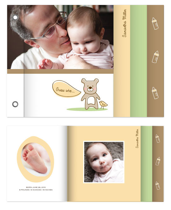 minibook cards - Baby Bear by Kimberly Schwede