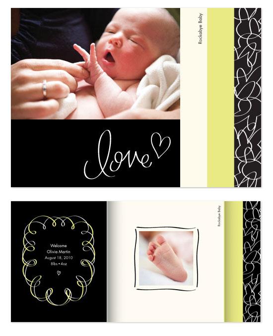 minibook cards - Rockabye Baby by Kimberly Schwede