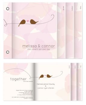 Two hearts become one Minibook Cards