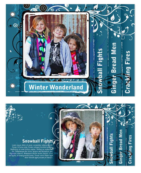 minibook cards - A Wintery Wonderland by Aubrey Buller
