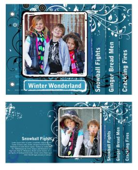 A Wintery Wonderland Minibook Cards