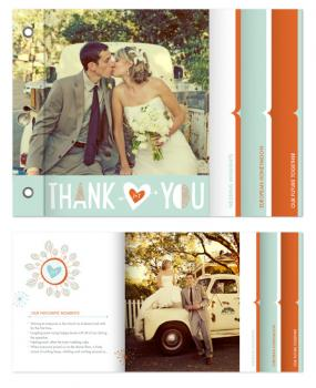 Just married  Minibook Cards