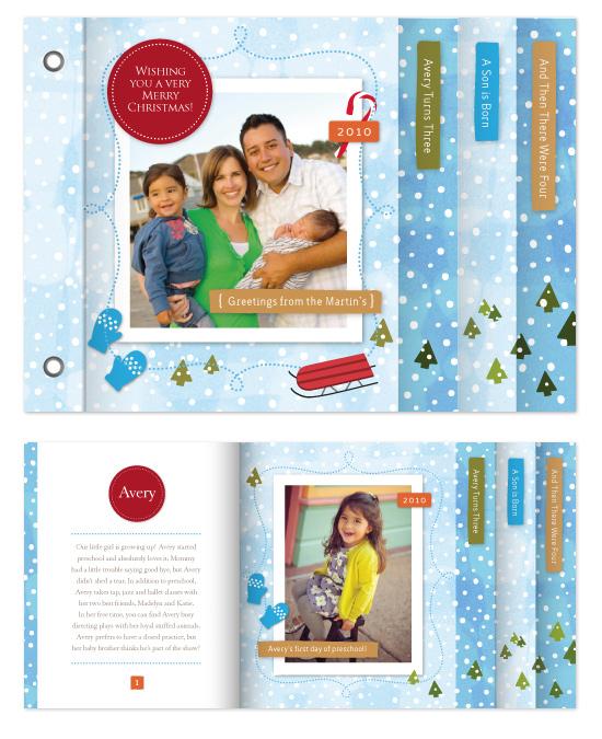 minibook cards - Winter Wonderland by Jennifer Wick