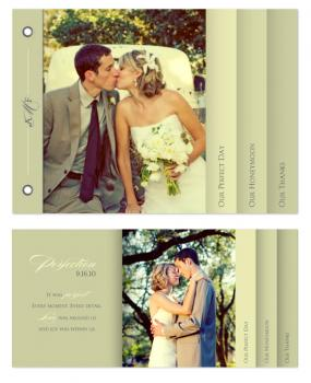 Subtle Perfection Wedding Minibook Minibook Cards