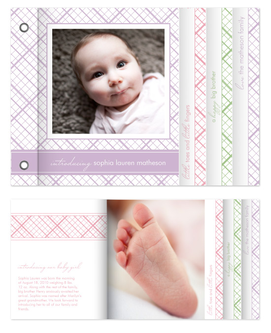 minibook cards - Little Toes by Kimberly FitzSimons