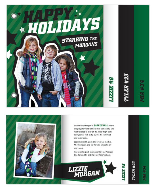 minibook cards - All-Star Holiday by Paper Plains