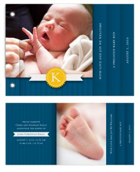 Baby Boy Blue Minibook Cards
