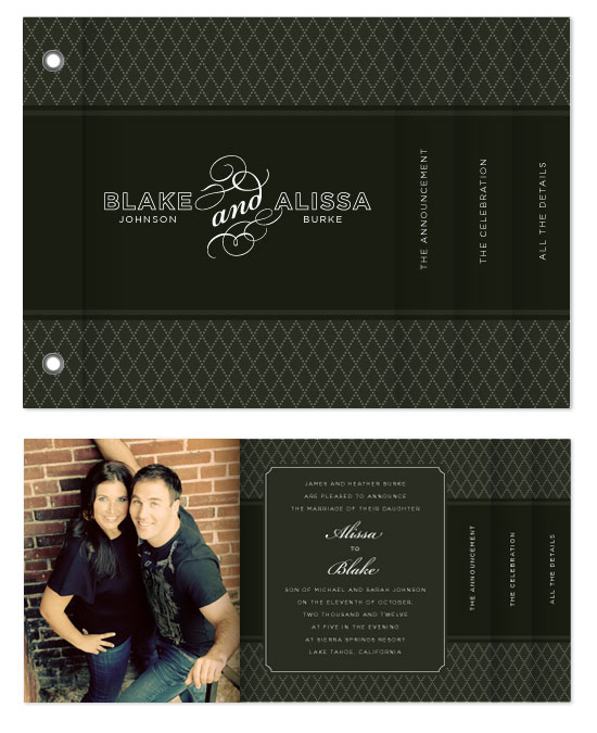minibook cards - Classic Black Announcement by Jill Means