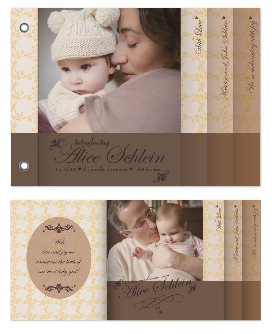 minibook cards - Sweet Baby Girl by Christie Au