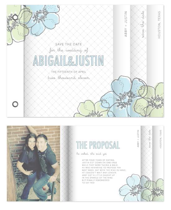 minibook cards - Love in Bloom by Lauren Chism