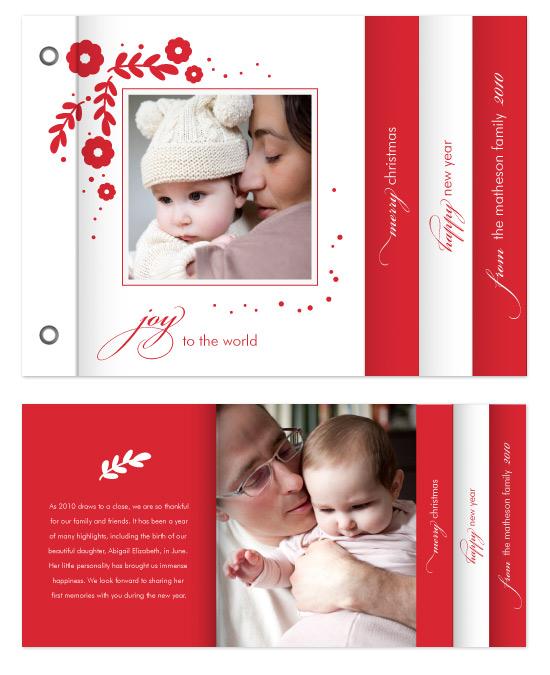 minibook cards - Holiday Joy by Kimberly FitzSimons