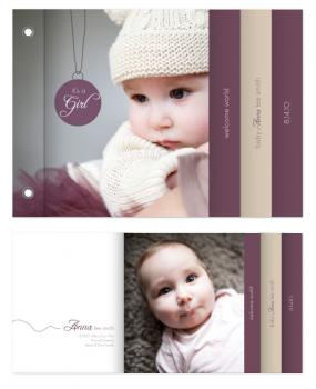 Modern Baby Charm Minibook Cards