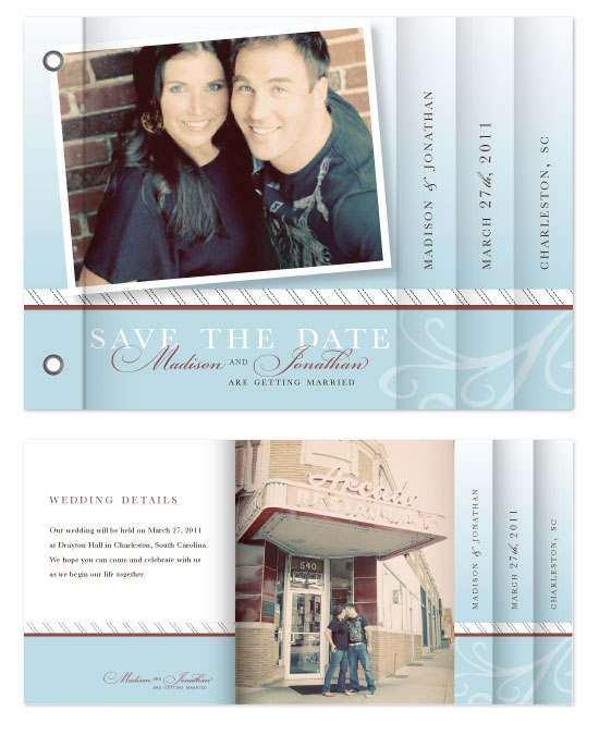 minibook cards - Love for Life Save the Date by Melissa Spivey