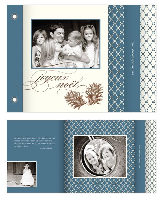 minibook cards - noël bleu by Carrie Eckert
