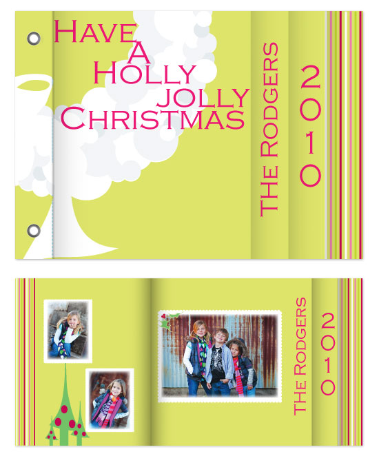 minibook cards - Holly Jolly Christmas by Jennifer Stein of PS Designs Etc.