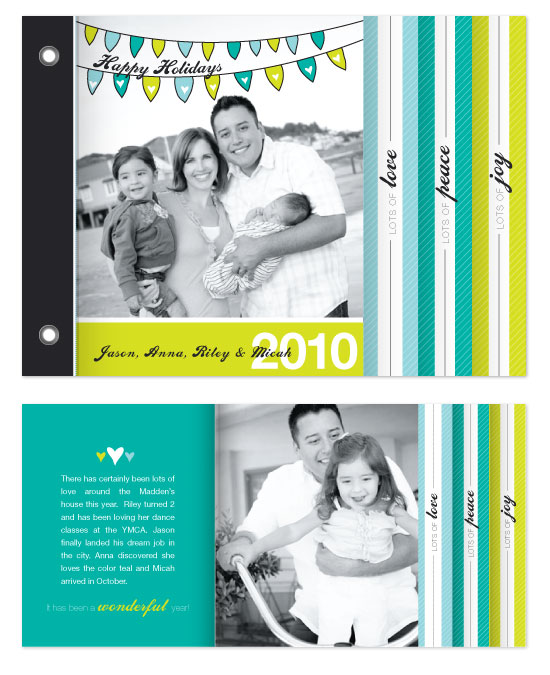 minibook cards - Holiday Bunting by Ashley Inzer