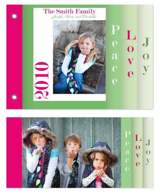minibook cards - Peace, Love, Joy  II by Jennifer Stein of PS Designs Etc.